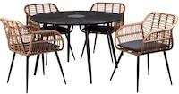 Havemøbelsæt af Anzio havebord og Volos stol i naturflet