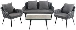 Lagos loungesæt grå HDPE plast