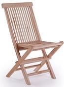 Køln Kiel sammenklappelig teak træ stol