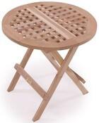 Rundt klapbord altanmøbel i klassisk design