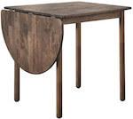 AMIRA brun lille spisebord i gummitræ med bordplade